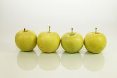 Green Apple on white background Royalty Free Stock Photos