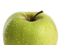 Green apple on a white Royalty Free Stock Images