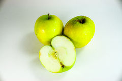 Green apple. In white background Royalty Free Stock Photo