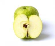Green apple. On white background Royalty Free Stock Photos