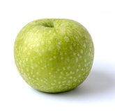 Green apple. On white background Royalty Free Stock Images