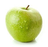 Green apple on white background Royalty Free Stock Photography