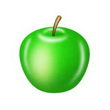 Green apple on white Royalty Free Stock Photography