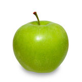 Green apple on white. Green ripe apple isolated on white background Stock Image