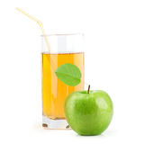 Green Apple With Juice Royalty Free Stock Photos