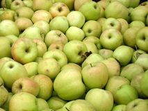 Green apples. Bushel of delicious green apples Royalty Free Stock Photo