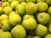 Green apples. Background. Fresh green fruits in one place Royalty Free Stock Photo