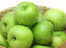 Green apples. The close up of fresh green apples Royalty Free Stock Photos