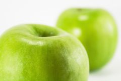 Green Apples. Shot on a white background Royalty Free Stock Photo