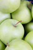 Green apples. Cloesup of several green and fresh apples Stock Images