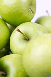 Green apples. Cloesup of several green and fresh apples Stock Image