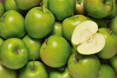 Green apples. A full frame Stock Photo