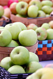 Green Apples. At a farmers market stock photography