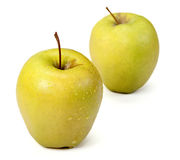 Green apples . Green apples  on a white background Stock Photography