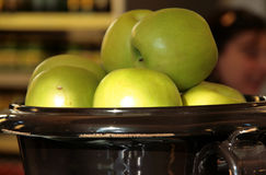 Green apples. A shot of some green delicious apples Royalty Free Stock Photos