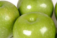 Green apples. Close-up Royalty Free Stock Photo