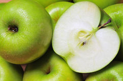 Green apples. A close up of a green apples royalty free stock photography