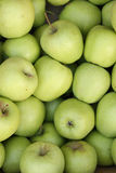Green apples. On the market Stock Photo