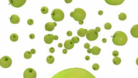 Green apples stock footage