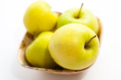 Green apples bowl Royalty Free Stock Photos