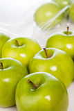Green apples closeup Stock Photos