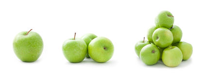 Green apples collection Royalty Free Stock Images