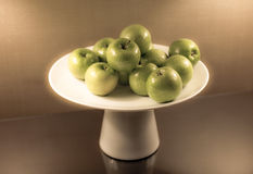 Green Apples in a Dish Royalty Free Stock Photography