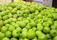 Green apples at the fruit market Stock Image