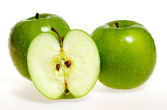 Green apples (granny smith) Royalty Free Stock Photos
