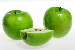 Green apples (granny smith) Royalty Free Stock Images