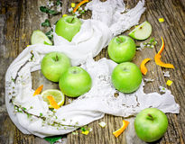 Green apples - Granny Smith apple Stock Images
