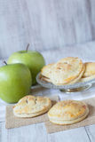 Green Apples and Hand Pies Stock Photography