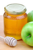 Green Apples And Honey Stock Image