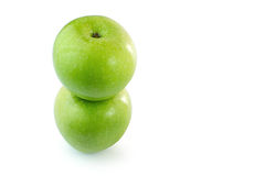 Green Apples isolate white background Stock Photography