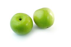 Green Apples isolate white background Royalty Free Stock Photos