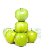 Green apples isolated Stock Images