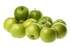 Green Apples Isolated Stock Photography