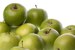 Green Apples Isolated Stock Photos