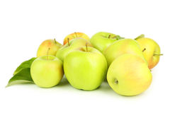 Green apples isolated on white. Royalty Free Stock Images