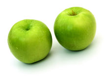 Green apples isolated on a white background Royalty Free Stock Photo