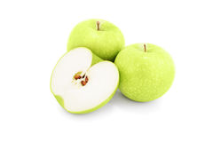 Green apples. Isolated on white background Stock Photography
