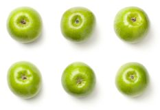 Green Apples Isolated on White Background Royalty Free Stock Photos