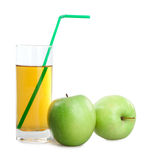 Green apples and juice Stock Photo