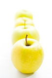 Green apples line Stock Images