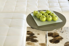 Green Apples on Living Room Table Royalty Free Stock Image