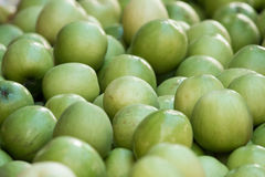 Green apples in the market Stock Images