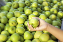 Green apples in the market Royalty Free Stock Images