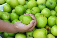 Green apples in the market Royalty Free Stock Photo