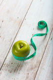 Green apples measured Royalty Free Stock Photos
