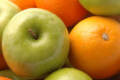 Green apples navel oranges Stock Image